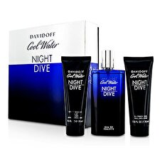 Davidoff Cool Water Night Dive Coffret: Eau De Toilette Spray 125ml/4.2oz + After Shave Balm 75ml/2.5oz + Shower Gel 75ml/2.5oz 3pcs
