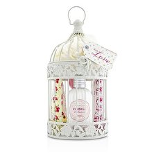 Heathcote & Ivory Vintage Enchanted Birdcage with Assorted Pampering Treats: 2x Hand Cream 100ml/3.38oz + Body Cream 250ml/8.45oz + 4x Heart Soap 18g + Puff 8pcs