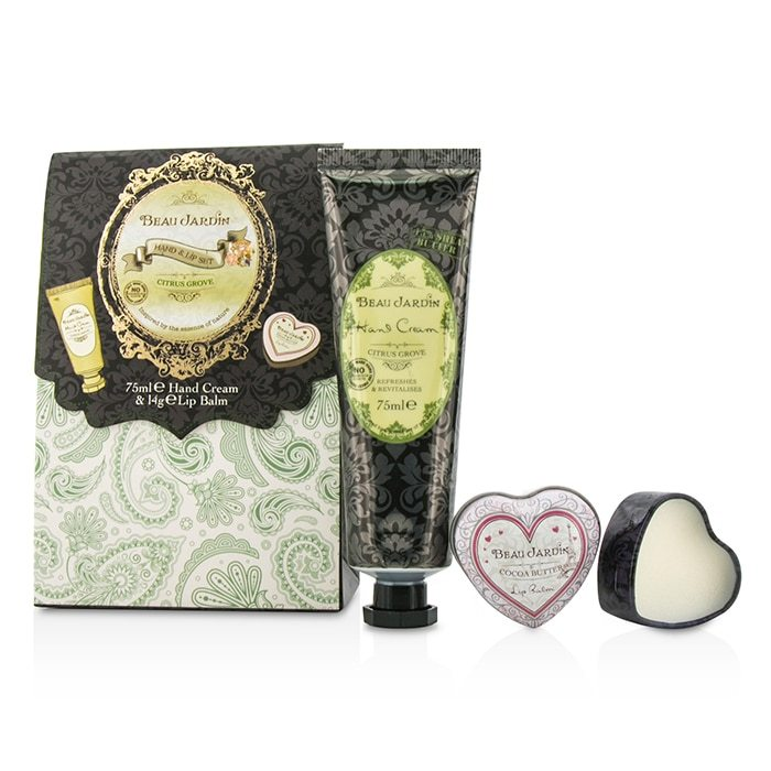 Heathcote ivory beau jardin hand lip set citrus grove for Beau jardin hand cream