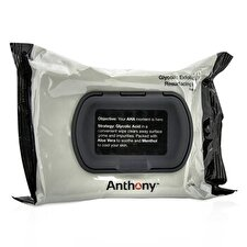 Anthony Logistics For Men Glycolic Exfoliating & Resurfacing Wipes 30wipes