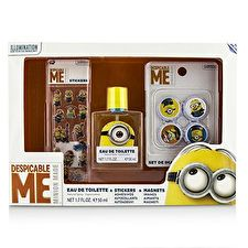 Air Val International Minions Coffret: Eau de Toilette Spray 50ml/1.7oz + Magnete + Aufkleber 3pcs