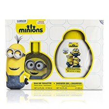Air Val International Minions Coffret: Eau de Toilette Spray 100ml/3.4oz + Duschgel & Shampoo 300ml / 10,2 Unzen 2ST