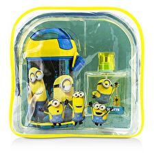 Air Val International Minions Coffret: Eau De Toilette Spray 50ml/1.7oz + Water Bottle + Backpack 2pcs+1bag