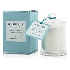Glasshouse Triple Scented Candle - Bora Bora (Cilantro & Orange Zest) 60g