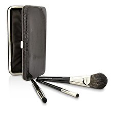 Laura Mercier Reise-Bürsten-Ausrüstung: 1x Cheek Colour Brush, 1x wisch Pinsel, 1x Eye Crease Pinsel, 1x Fall (Unboxed) 3pcs + 1case