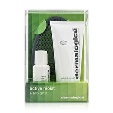 Dermalogica Active Moist Limited Edition Set: Active Moist 100ml + Dermal Clay Cleanser 30ml + Facial Cleansing Mitt 3pcs