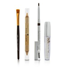 Billion Dollar Brows Best Sellers Kit: 1x Universal Brow Pencil 0.27g/0.009oz, 1x Brow Duo Pencil 2.98g/0.1oz, 1x Smudge Brush, 1x Brow Gel 3ml/0.1oz 4pcs