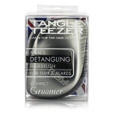 Tangle Teezer Compact Styler Mens' Compact Groomer Detangling Hair Brush (For Hair & Beards) 1pc