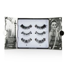 Eylure The London Edit False Lashes Multipack - # 121, # 117, # 154 (Adhesive Included) 3pairs