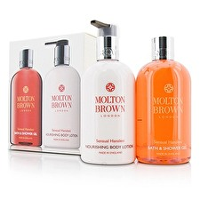 Molton Brown Sensual Hanaleni Bath & Body Set: Bath & Shower Gel 300ml/10oz + Nourishing Body Lotion 300ml/10oz 2pcs