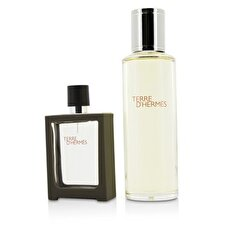 Terre D'Hermes Eau De Toilette Refillable Spray 30ml/1oz + Refill 125ml/4.2oz 2pcs