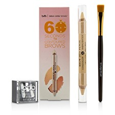 Billion Dollar Brows 60 Seconds to Contoured Brows Kit (1x Brow Duo Pencil, 1x Smudge Brush, 1x Duo Sharpener) 3pcs