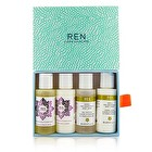 Ren Body Travel Kit: 2x Body Wash 50ml, 1x Body Lotion 50ml, 1x Body Cream 50ml 4pcs