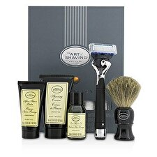 The Art Of Shaving Lexington Collection Power Shave Set: Rasiermesser + Pinsel + Rasieröl + Rasiercreme + After Shave Balsam - Ohne Batterie 5pcs