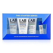 Aramis Lab Series The Starter Series : Multi-Action Face Wash 30ml + Face Lotion 30ml + Post Shave 30ml + Lip Balm 4.3g 4pcs