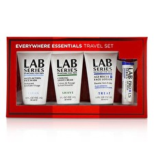 Lab Series Travel Set: Multi-Action Face Wash 30ml + Face Lotion 30ml + Rasierschaum 30ml + Lippenbalsam 4.3g 4St