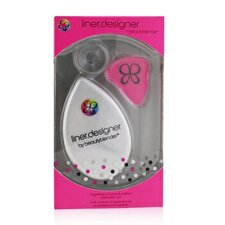 BeautyBlender Liner Designer (1x Eyeliner Application Tool, 1x Magnifying Mirror Compact, 1x Suction Cup) - Pink 3pcs