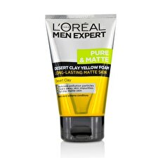 L'Oreal Men Expert Pure & Matte Desert Clay Yellow Foam 100ml/3.3oz
