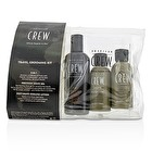 American Crew Travel Grooming Kit: Men Classic 3-IN-1 Shampoo, Conditioner & Body Wash 100ml + Precision Shave Gel 50ml + Post Shaving Cooling Lotion 50ml 3pcs