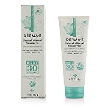 Derma E Natural Mineral Sunscreen Broad Spectrum SPF 30 - Body 113g/4oz