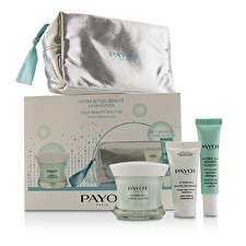 Payot Hydra 24+ Coffret: 1x Plumpling Moisturizing Care 50ml, 1x Moisturing Reviving Eyes Roll On 15ml, 1x Comforting Mask 15ml, 1x Bag 3pcs + 1 Bag