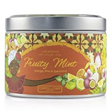 The Candle Company Tin Can 100% Beeswax Candle with Wooden Wick - Fruity Mint (8x5) cm