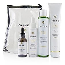 Philip B Four Step Hair & Scalp Treatment Set - # Classic formula (All Hair Types) 4pcs