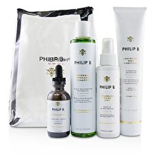 Philip B Four Step Hair & Scalp Treatment Set - # Paraben-Free Formula (All Hair Types) 4pcs