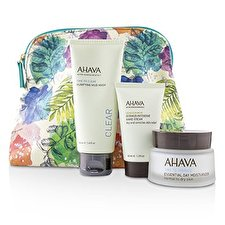 Ahava Elements Of Love Natural Love Essentials: Essential Day Moisturizer + Purifying Mud Mask + Dermud Intensive Hand Cream + Bag 3pcs+1bag