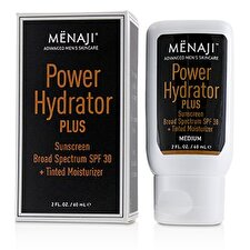 Menaji Power Hydrator Plus Sunscreen Broad Spectrum SPF 30 + Tinted Moisturizer (Medium) 60ml/2oz