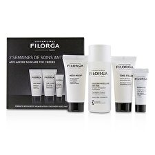Filorga Anti-Ageing Skincare For 2 Weeks Set: Meso-Mask + Time-Filler + Optim Eyes + Solution Micellaire Anti-Age Make-up Remover 4pcs