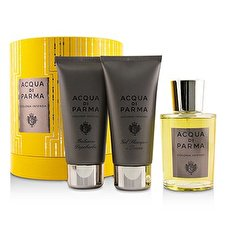 Acqua Di Parma Colonia Intensa Coffret: Eau De Cologne Spray 100ml/3.4oz + Hair And Shower Gel 75ml/2.5oz + After Shave Balm 75 ml/2.5oz 3pcs