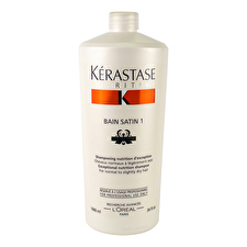 Kerastase Nutritive Bain Satin 1 Exceptional Nutrition Shampoo (For Normal to Slightly Dry Hair) 1000ml/34oz