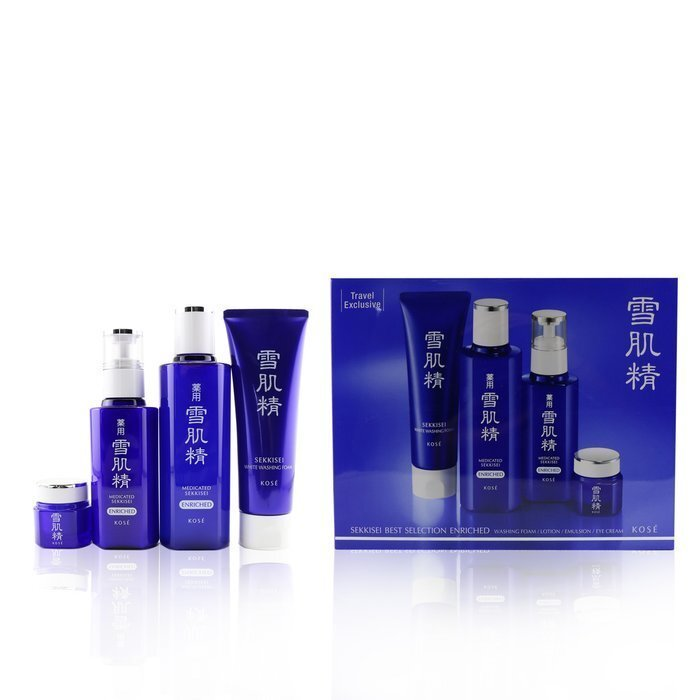 Kose Sekkisei Best Selection Enriched Set: Washing Foam 130g+Enriched  Lotion 200ml+Enriched Emulsion 140ml+Eye Cream 20g 4pcs | Cosmetics Now  United Arab Emirates