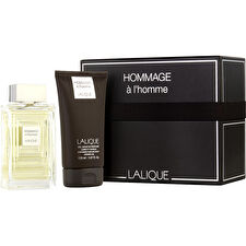 Lalique Hommage A L'homme Eau De Toilette Spray 100ml/3.4oz & Hair And Shower Gel 150ml/5oz