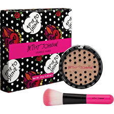 Betsey Johnson Sparkle Hard Highlighter Powder With Brush 10g/0.33oz