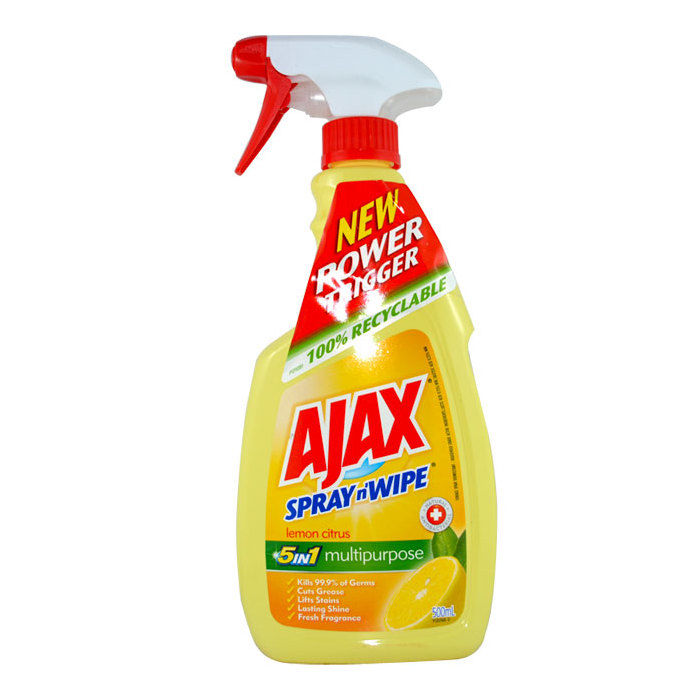 Ajax Spray Wipe Lemon Citrus Multipurpose