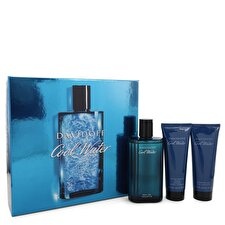 Davidoff Cool Water Gift Set - Eau De Toilette Spray + 2.5 oz After Shave Balm + 2.5 oz Shower Gel