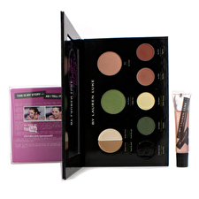 Lauren Luke My Luscious Greens Complete Makeup Palette (Without Eye Liner) (1x Blush, 2x Shadow Primer, 2x Eye Shadow, 2x Lip Color,1x Lip Gloss) -