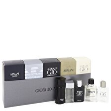 Giorgio Armani Armani Gift Set - Travel Set Includes Armani Code, Emporio Armani Diamonds, Acqua Di Gio, Armani and Acqua Di Gio Profumo