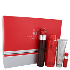 Perry Ellis Perry Ellis 360 Red Gift Set - Eau De Toilette Spray + .25 oz Mini Eau De Toilette Spray + 6.8 oz Body Spray + 3 oz Shower Gel
