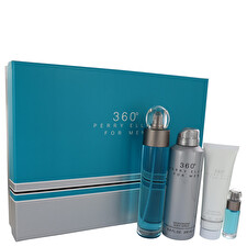 Perry Ellis Perry Ellis 360 Gift Set - Eau De Toilette Spray + 6.8 oz Body Spray + 3 oz Shower Gel + .25 oz Mini Eau De Toilette Spray