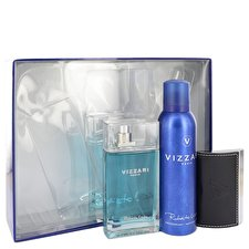 Roberto Vizzari Vizzari Gift Set - Eau De Toilette Spray + 6.6 oz Deodorant Spray + Card Holder