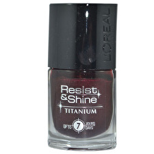 L'oreal Resist & Shine Titanium Nail Polish 734 Black Ruby 9ml