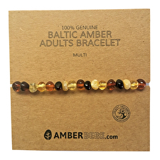 Amberbebe Baltic Amber Adult Bracelet 20cm Multi Colour