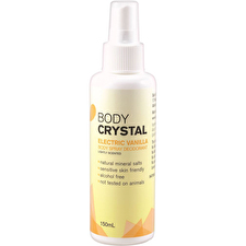 The Body Crystal Body Spray Deodorant Electrc Vanilla 150ml