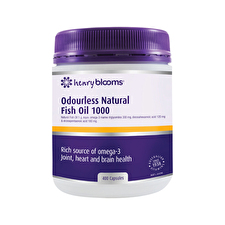 Blooms Odourless Natural Fish Oil 1000mg 400c