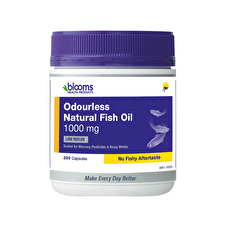 Blooms Odourless Natural Fish Oil 1000mg 200c