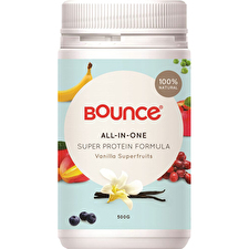 Bounce Shake AllinOne Sup Prot Form Vanlla Superfruits 500g