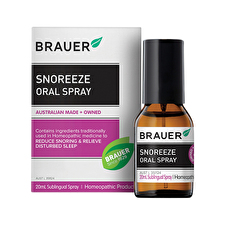 Brauer SnoreEze Snoring Relief Oral Spray 20ml